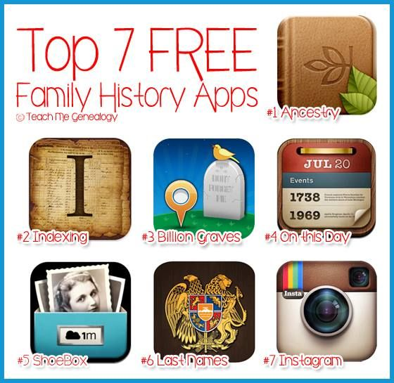 TOP 7 FREE FAMILY HISTORY APPS for your Smart Phone & iPad