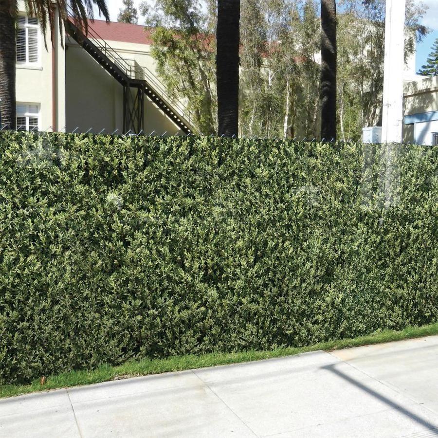 Fake Fencescreen Leaf Hedge Leaf Hedge Graphic Chain Link Fence