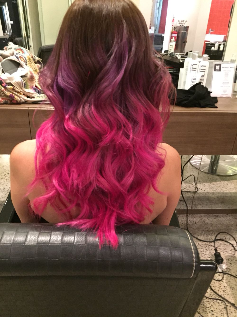 Purple-Pink ombré using Pravana Vivids and Neon Vivids. Styling with Unite Haircare for the best Haircare for high demand colours and the Ego Professional Alter Ego and Inflated Ego. #pravana #vivids #egoprofessional #unitehaircare #ombré #gamora #sydneycolourist #hairdreams #colourchange #hairartistry #hairdesign #joshuacavanagh #bradngatahairdirection #sydney #surryhills #neonhair #creation #highfashion #wedocoolhair #loveyourhair