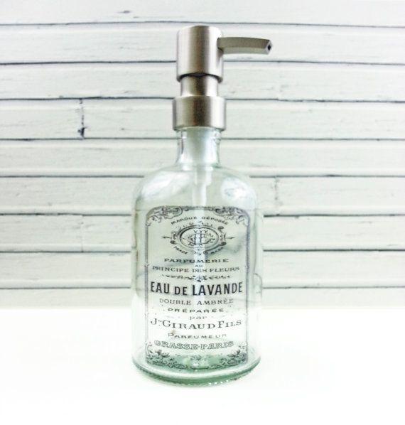 Hand Soap Dispensers | Farmhouse Bathroom Decor | Glass ...