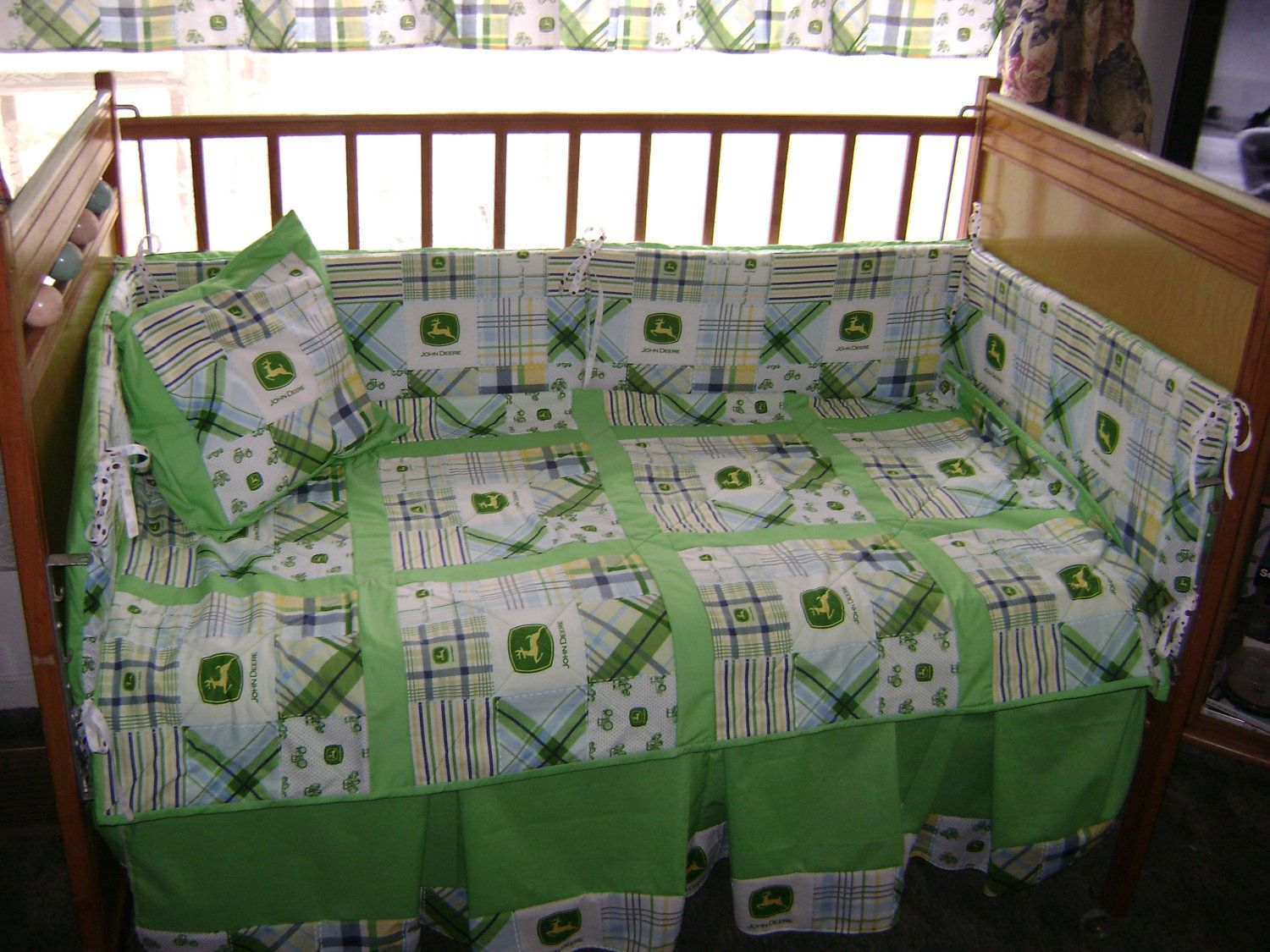 John Deere Kids Green Plaid Mardas Baby By Prairiewomandesigns 275 00