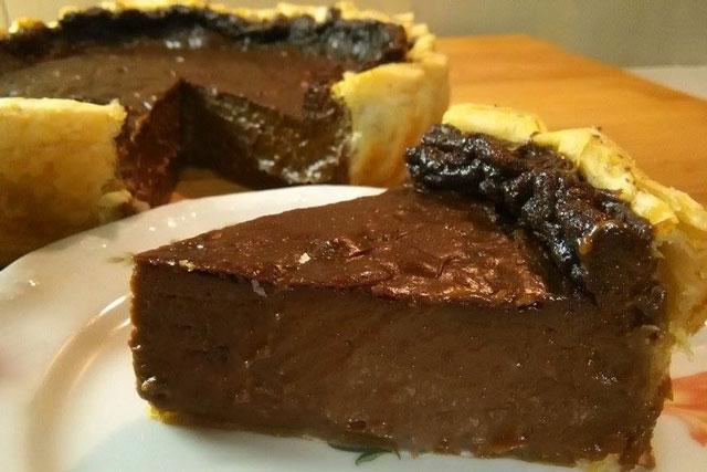 Flan pâtissier au chocolat avec Thermomix #flanpatissier