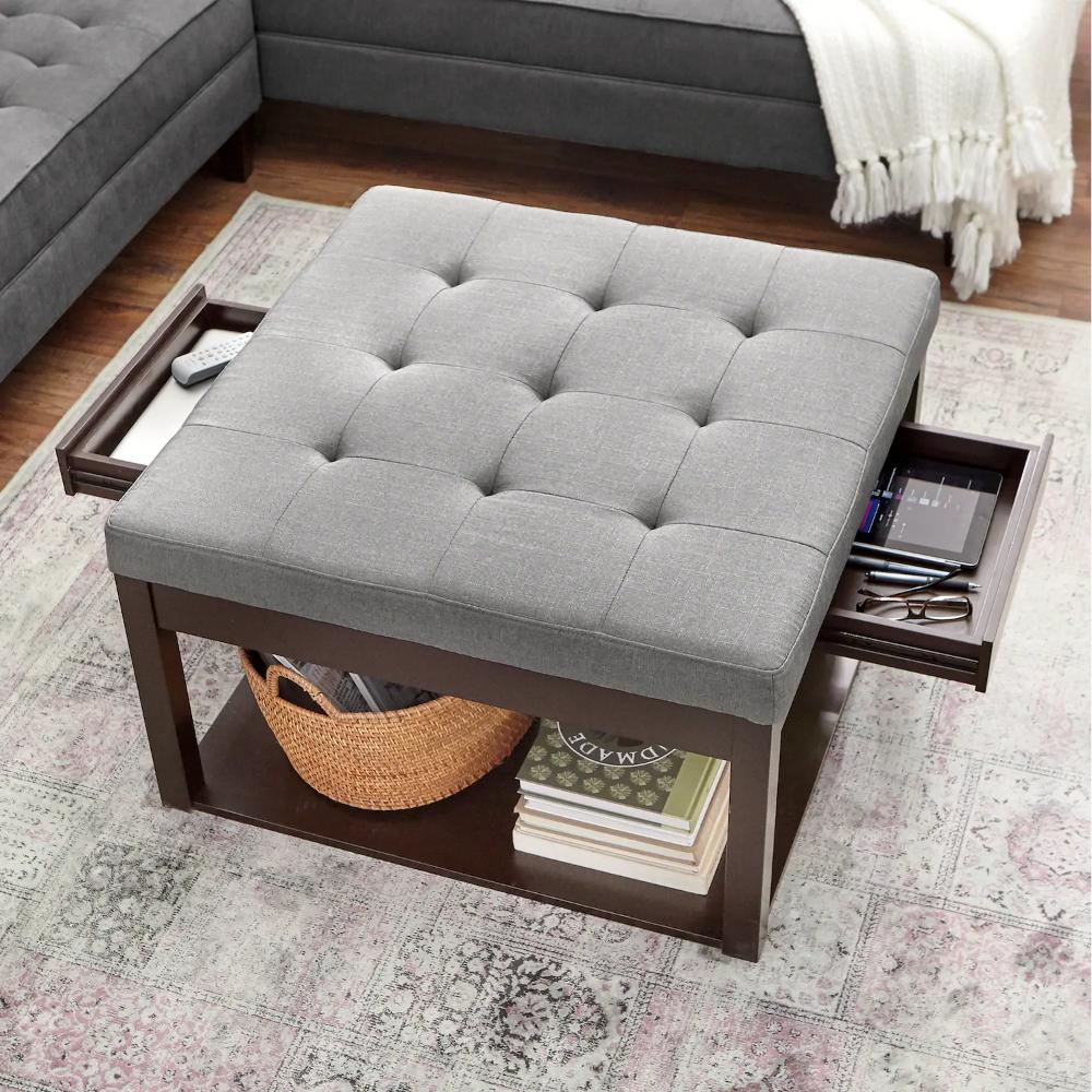 Square Ottoman Coffee Table Square Ottoman Coffee Table Living Room Ottoman Coffee Table Ottoman Coffee Table [ 1000 x 1000 Pixel ]
