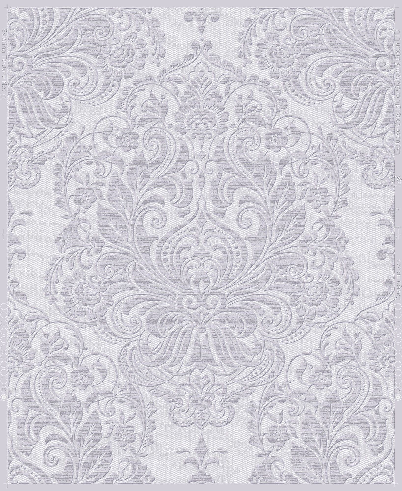 Olana 33 X 20 Damask Wallpaper Grey Wallpaper Vinyl Wallpaper Damask Wallpaper