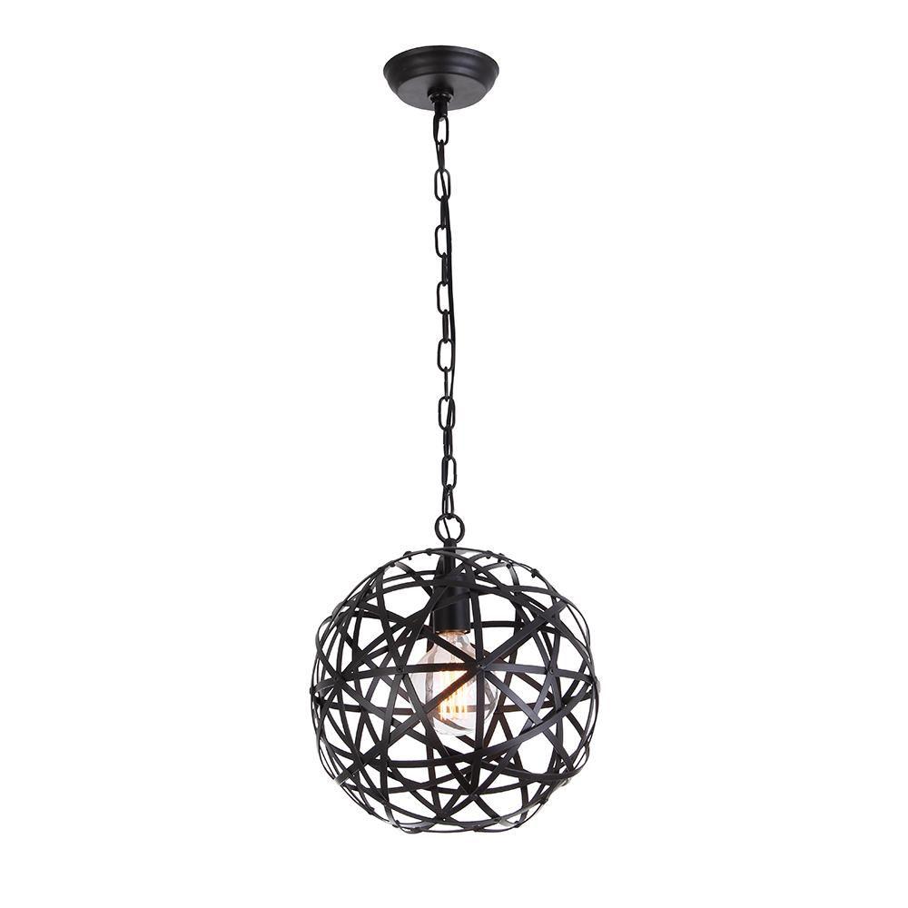 Globe Pendant Light Black