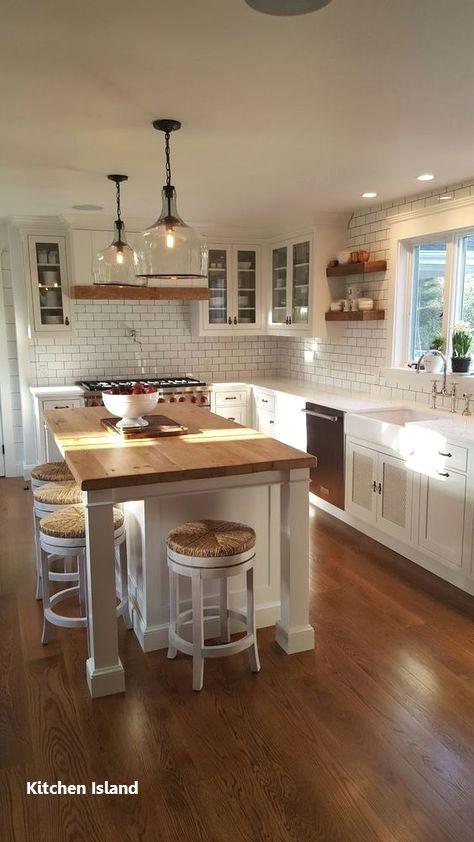 Kitchen Island Ideas Farmhouse In 2020 White Kitchen Remodeling Farmhouse Kitchen Remodel Kitchen Remodel Small