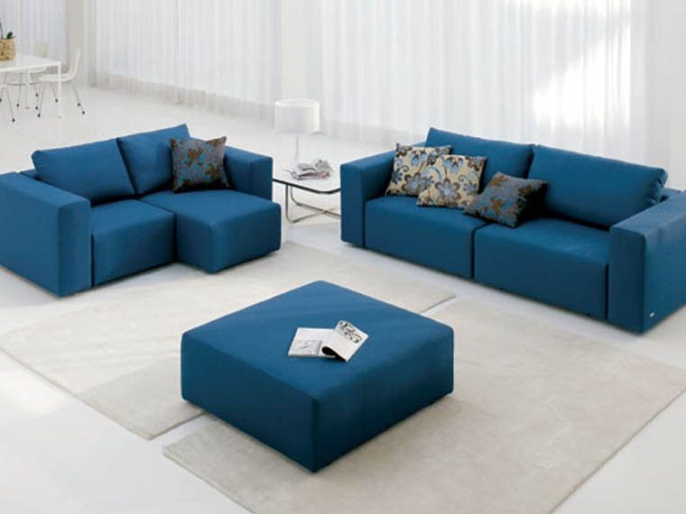 Broyhill Sofa  Navy blue leather sofas for a bold and stunning centerpiece