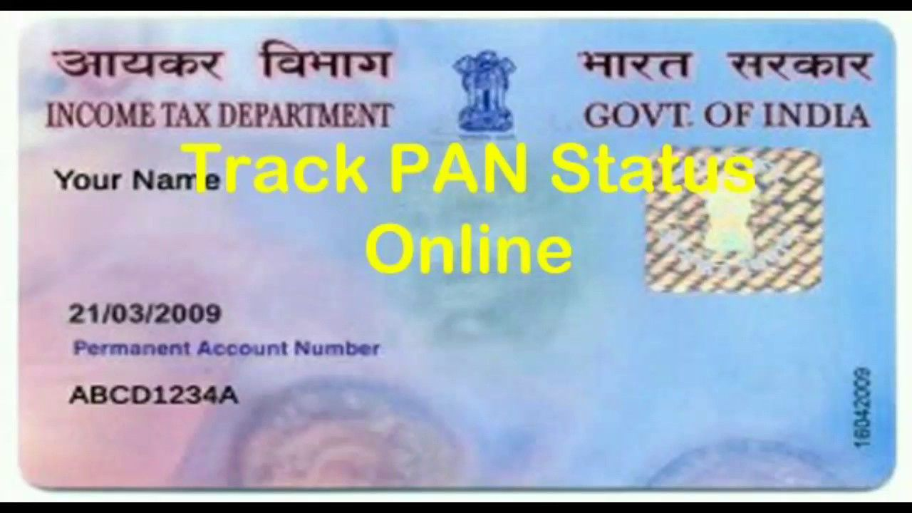 Track Pan Card Status Online Track Status How To Apply Accounting