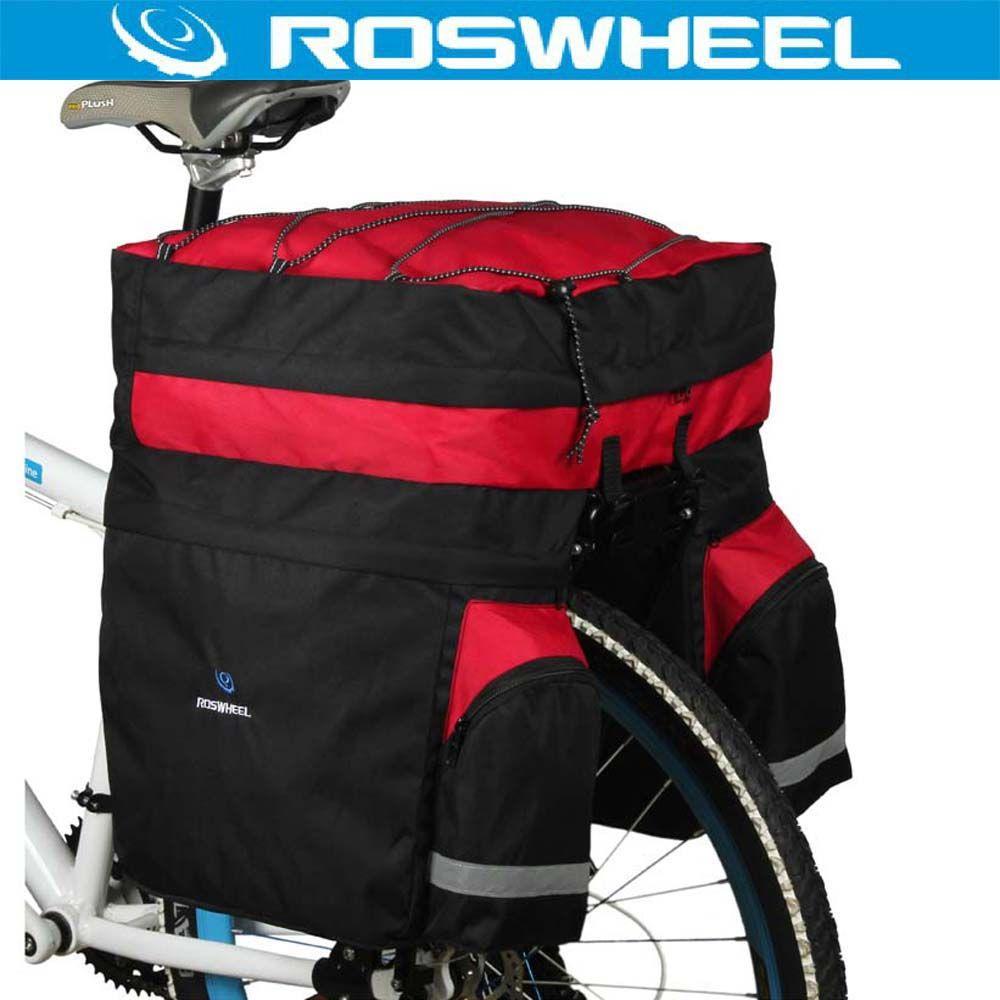 ROSWHEEL 60L Wasserdicht Mountain Road Fahrrad Bike Bag Radfahren Double Side Gepäckträger Schwanz Seat Trunk Träger Pannier Regen Abdeckung