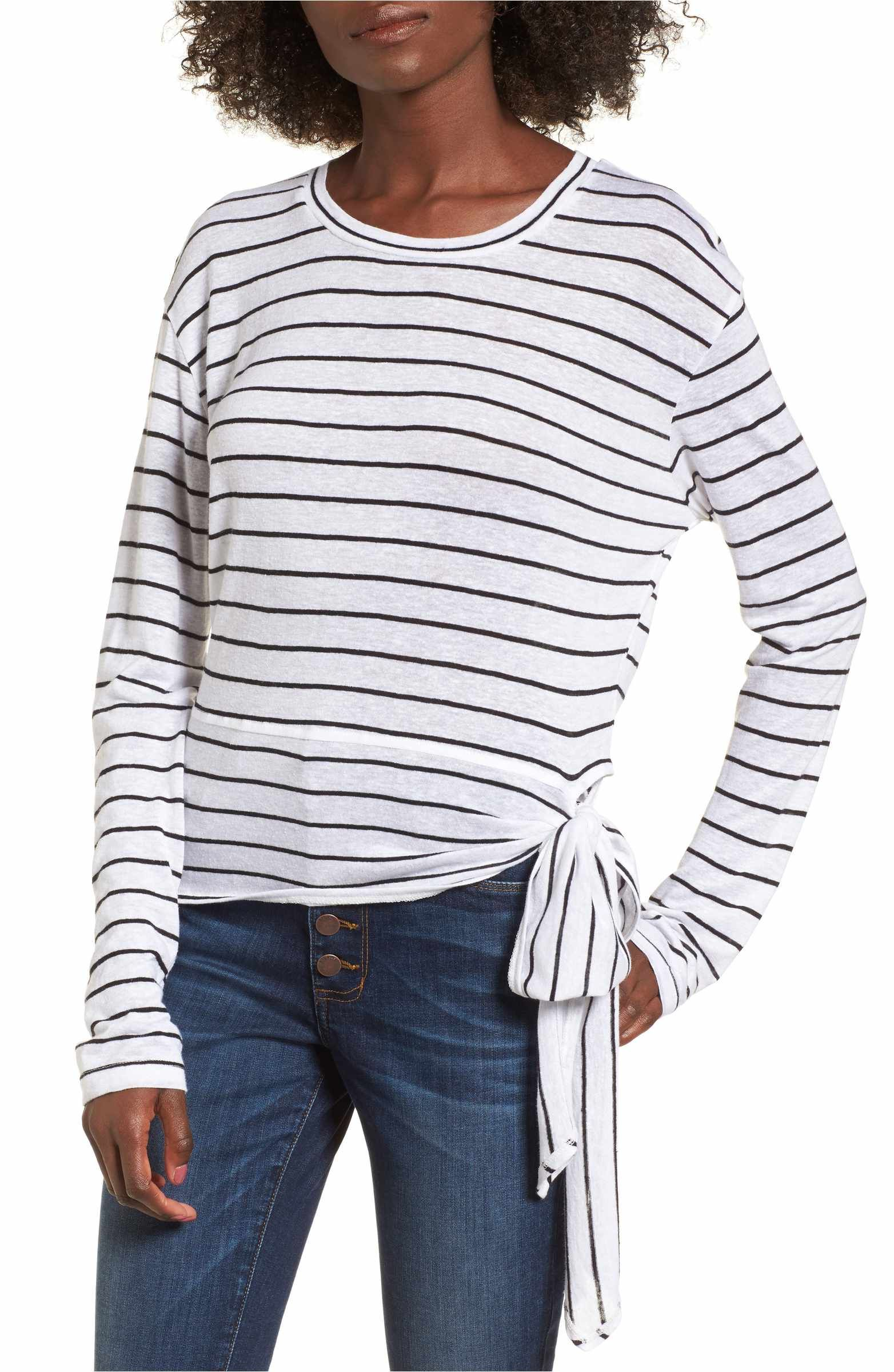 Main Image Bp Side Tie Stripe Tee Nordstrom Shirt Striped Tee Clothes