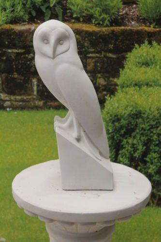 High Quality Large White Limestone Owl Stone Garden Statue