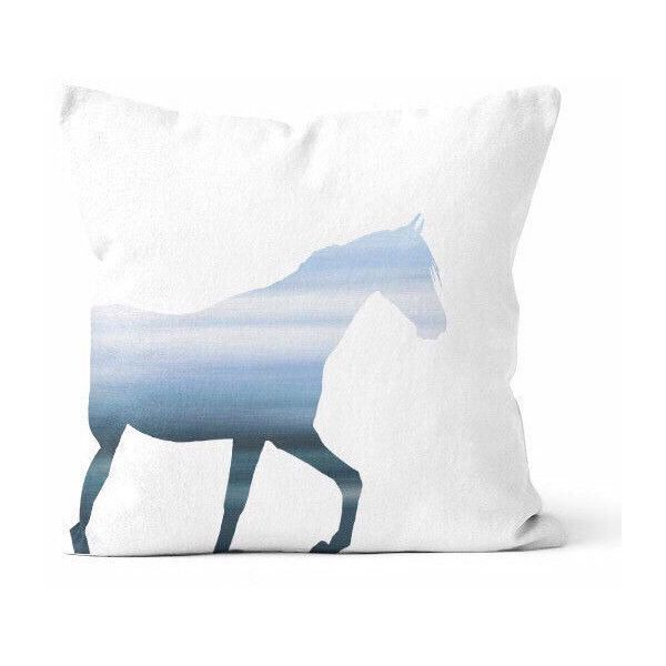 Horse Throw Pillow Cover Blue Horse Decor Horse Pillow Home Decor... ($34) ❤ liked on Polyvore featuring home, home decor, throw pillows, decorative pillows, home & living, home décor, light blue, outdoor toss pillows, blue home accessories and outdoor throw pillows