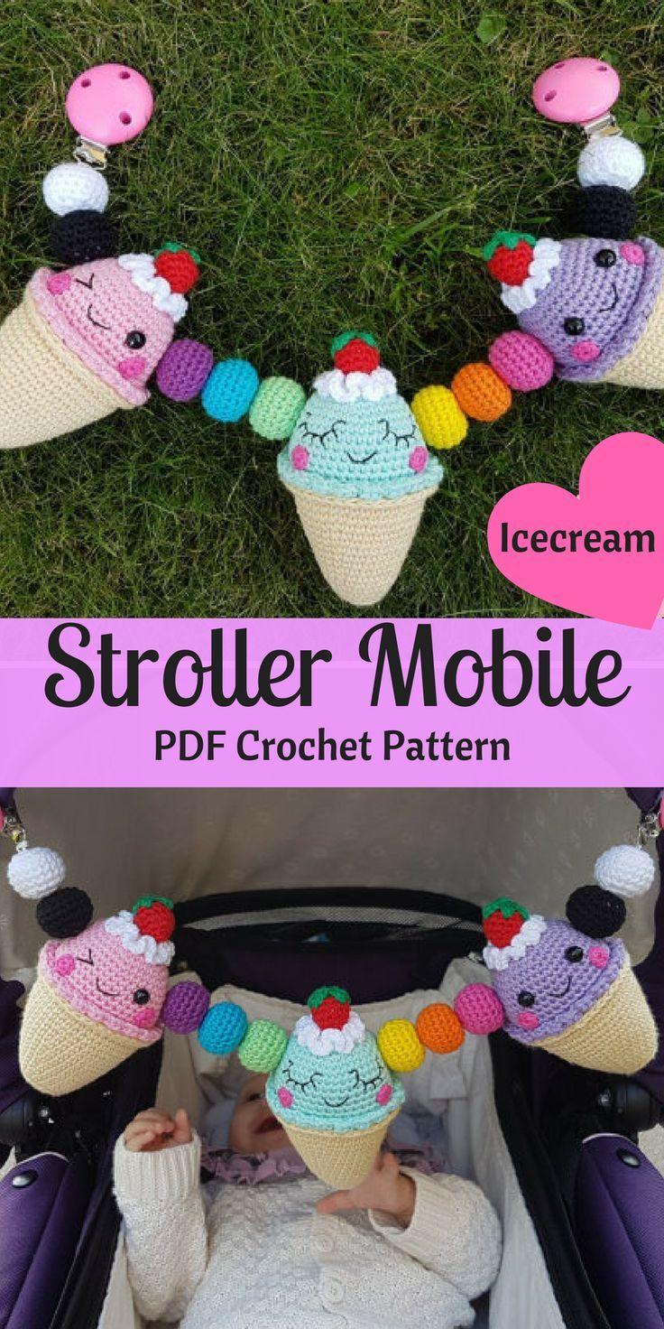 Do it yourself crochet icecream stroller mobile pattern your baby do it yourself crochet icecream stroller mobile pattern your baby will love this cute amigurumi solutioingenieria Image collections