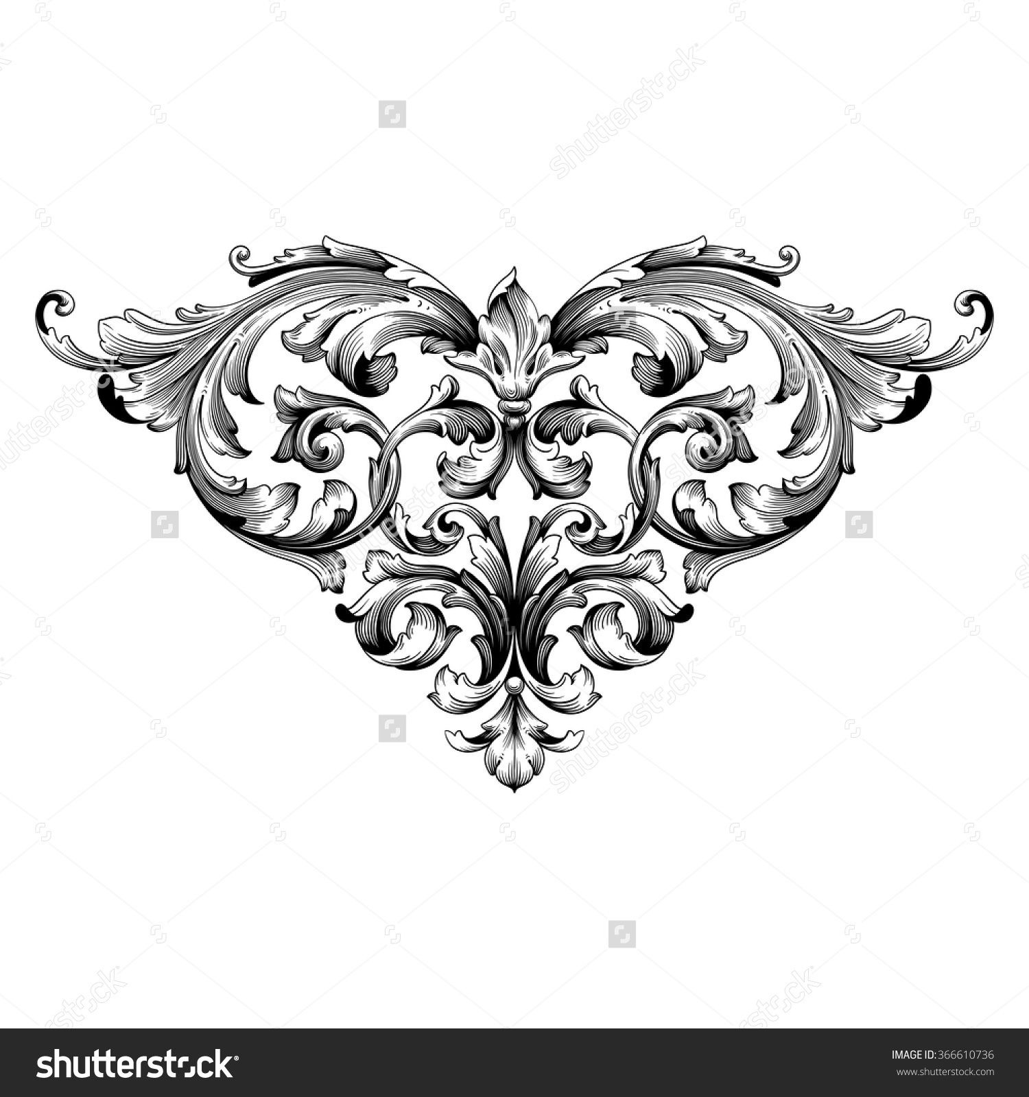 Antique Scroll Patterns: Stock-vector-vintage-baroque-frame-scroll-ornament
