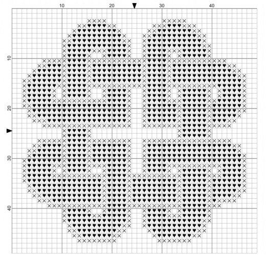 Photo of Knotted Hearts Free Cross Stitch Pattern