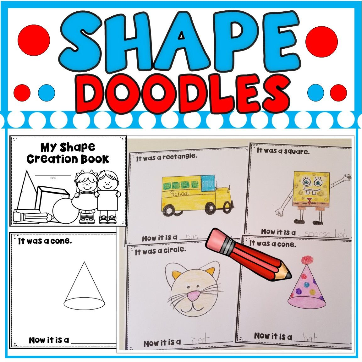 My Shape Creation Book Students Turn Ordinary Shapes Into