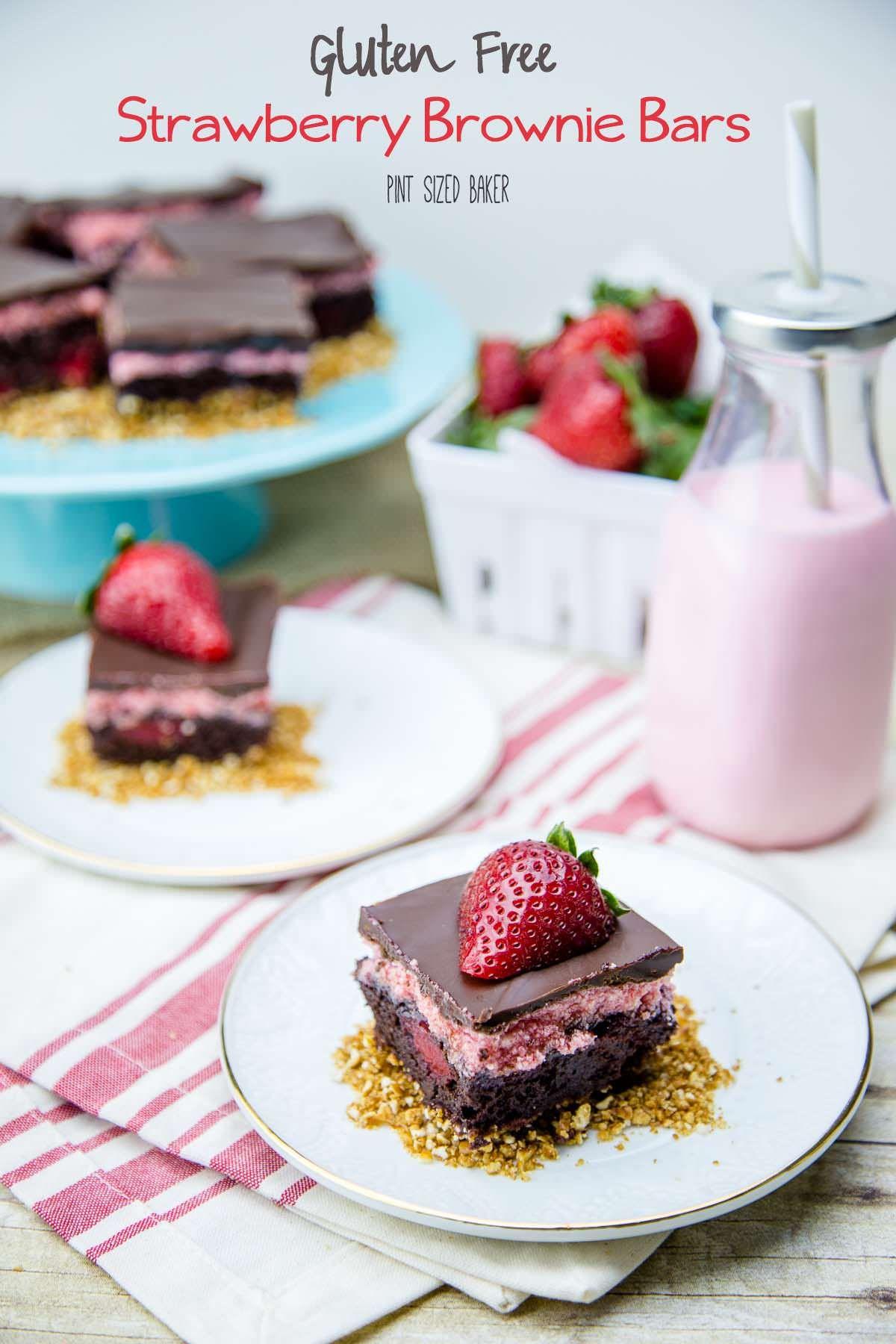 Gluten free strawberry brownie bars strawberry brownies