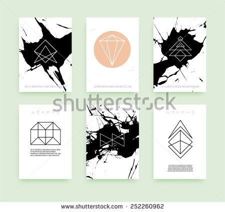 Set of business card templates line geometric hipster symbols for set of business card templates line geometric hipster symbols for logotype design abstract modern vector signs collection for banner poster reheart Images