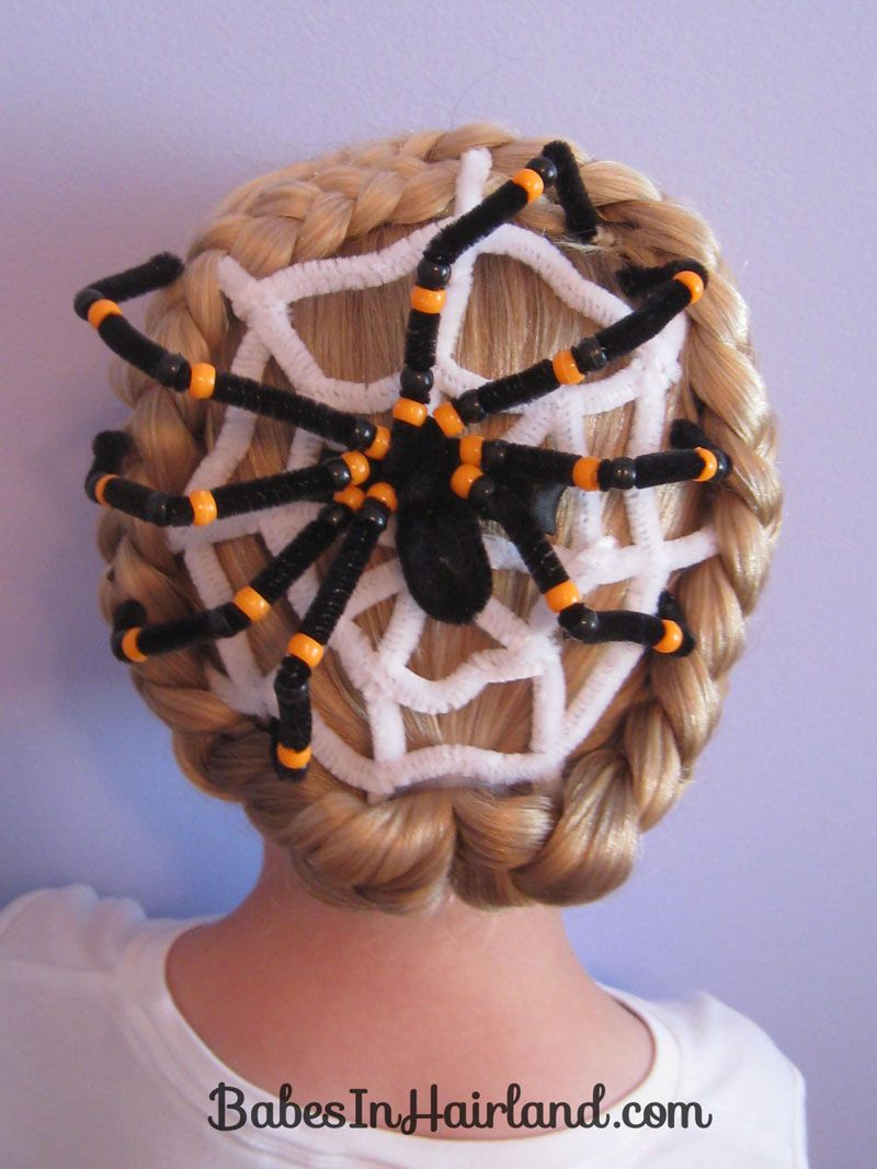 Swell Spiderweb Hairstyle For Halloween Crazy Hair Day Halloween Natural Hairstyles Runnerswayorg