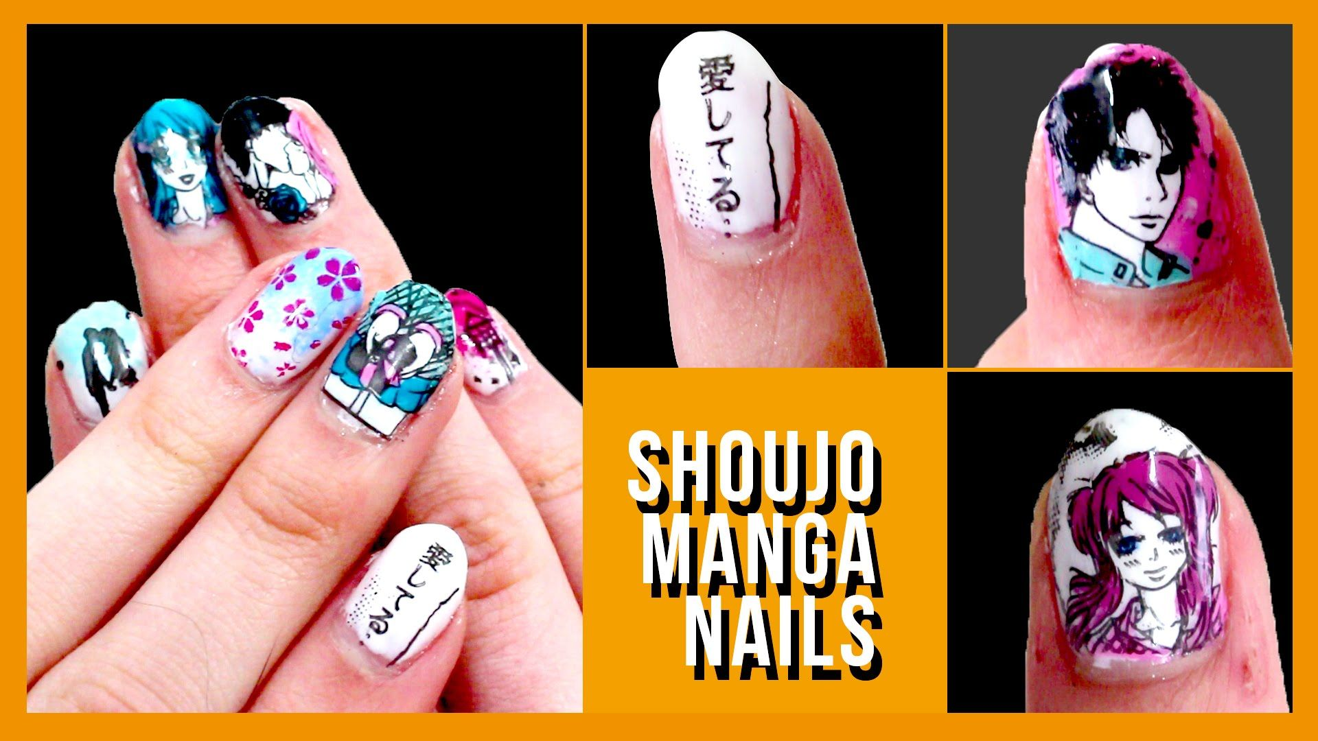 Shoujo Manga Nail Tutorial | Stamp Decal Method