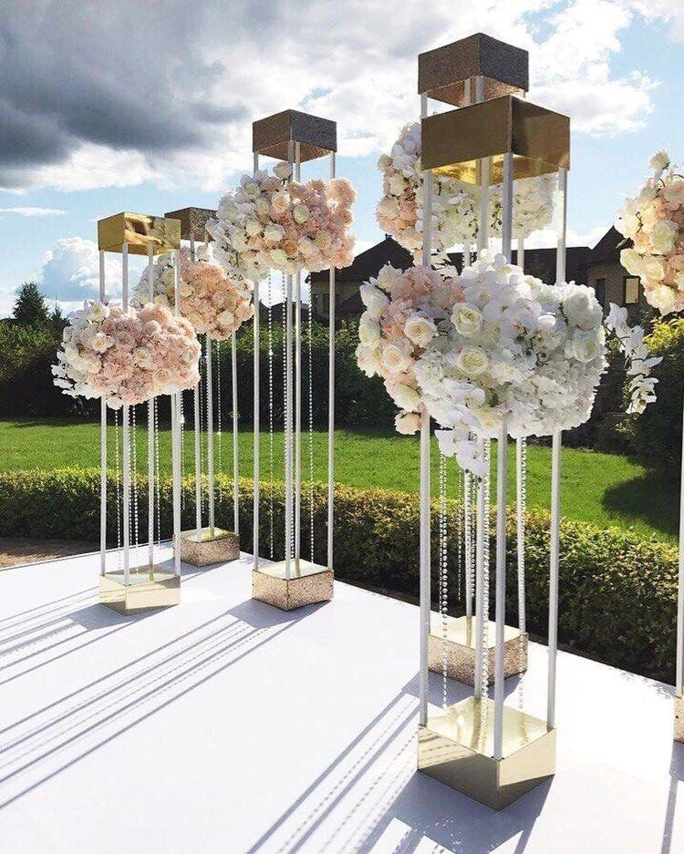 Gold Floral Stand Wedding centerpiece Wedding Flower stand