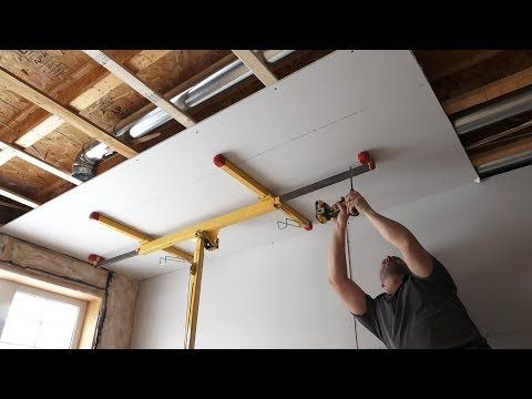 10 How To Fit Plasterboard To Ceilings The Easy Way To Hang And Attach Drywall X2f Ceiling Boards Youtube False Ceiling Ceiling Design Bedroom Ceiling