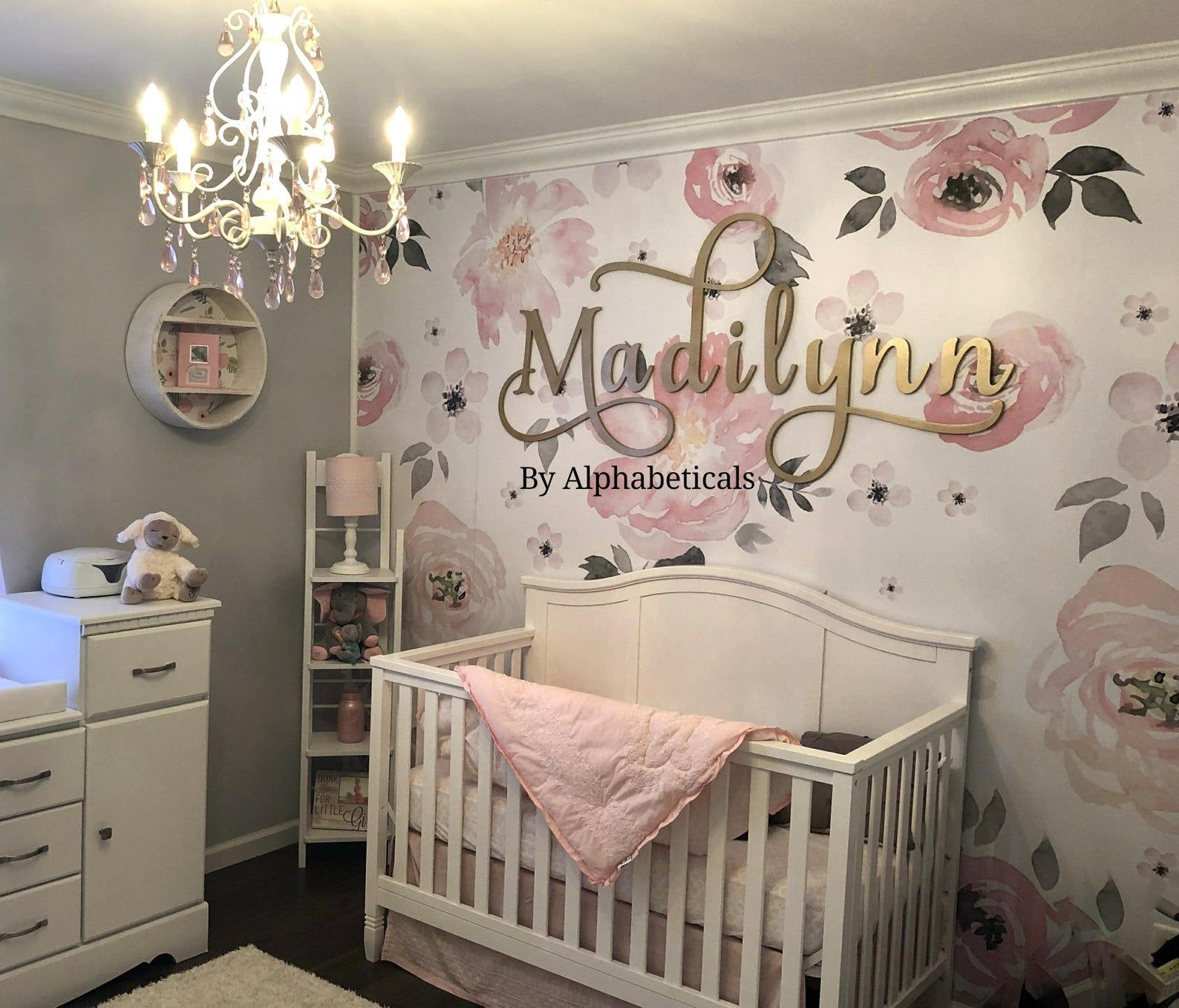 Personalised Name Wall Art Sticker Letter Baby Girls Boys Bedroom Nursery Decal