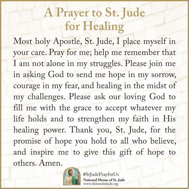 St jude prayer for the sick  Day of Prayer For Cancer  2019