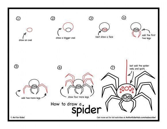 How To Draw A Spider - Art For Kids Hub - | Spider, Spider art and ...