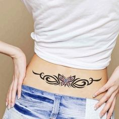 Photo of Sexy Tribal Butterfly Temporary Tattoo