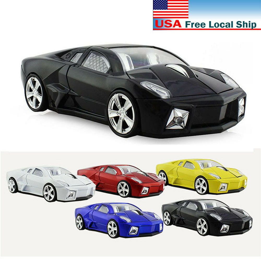 1600DPI LED 3D 2.4G Car Shape Wireless Optical Mouse Mice /& USB Receiver For PC