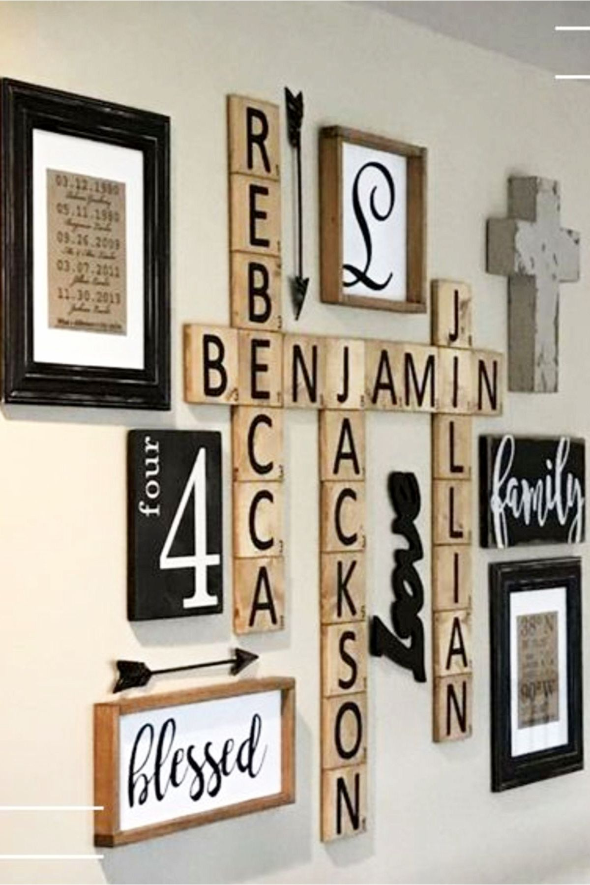 Diy Farmhouse Scrabble Wall Art Decorating Ideas St1122019