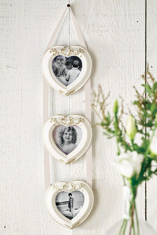 3 Hearts Photo Frame | Beautiful homes | Pinterest | Walls, House ...