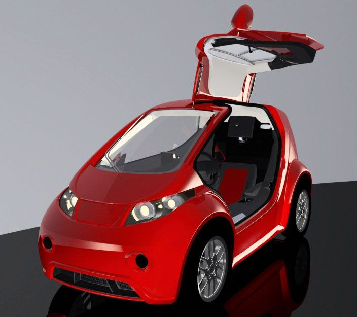The Innovative Mobility Automobile Gmbh Unveiled Colibri Ev A Tiny One Seat Electric Vehicle At 2017 Geneva Motor Show