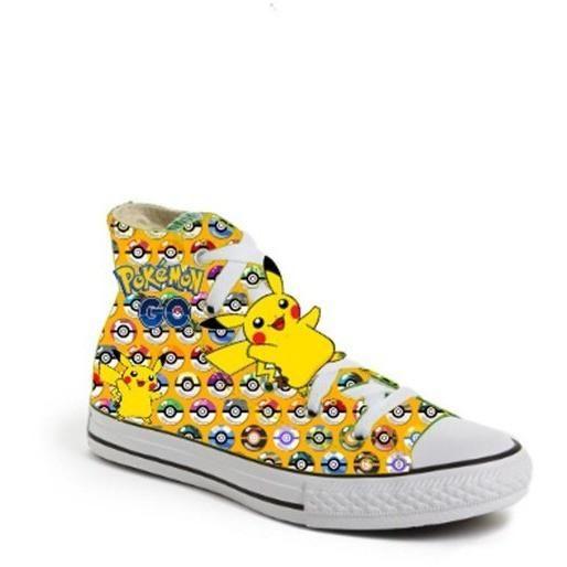 897a54e29cfc8 Limited Edition POKEMON Ball PIKACHU Yellow Inspired Shoe (CONVERSE ...