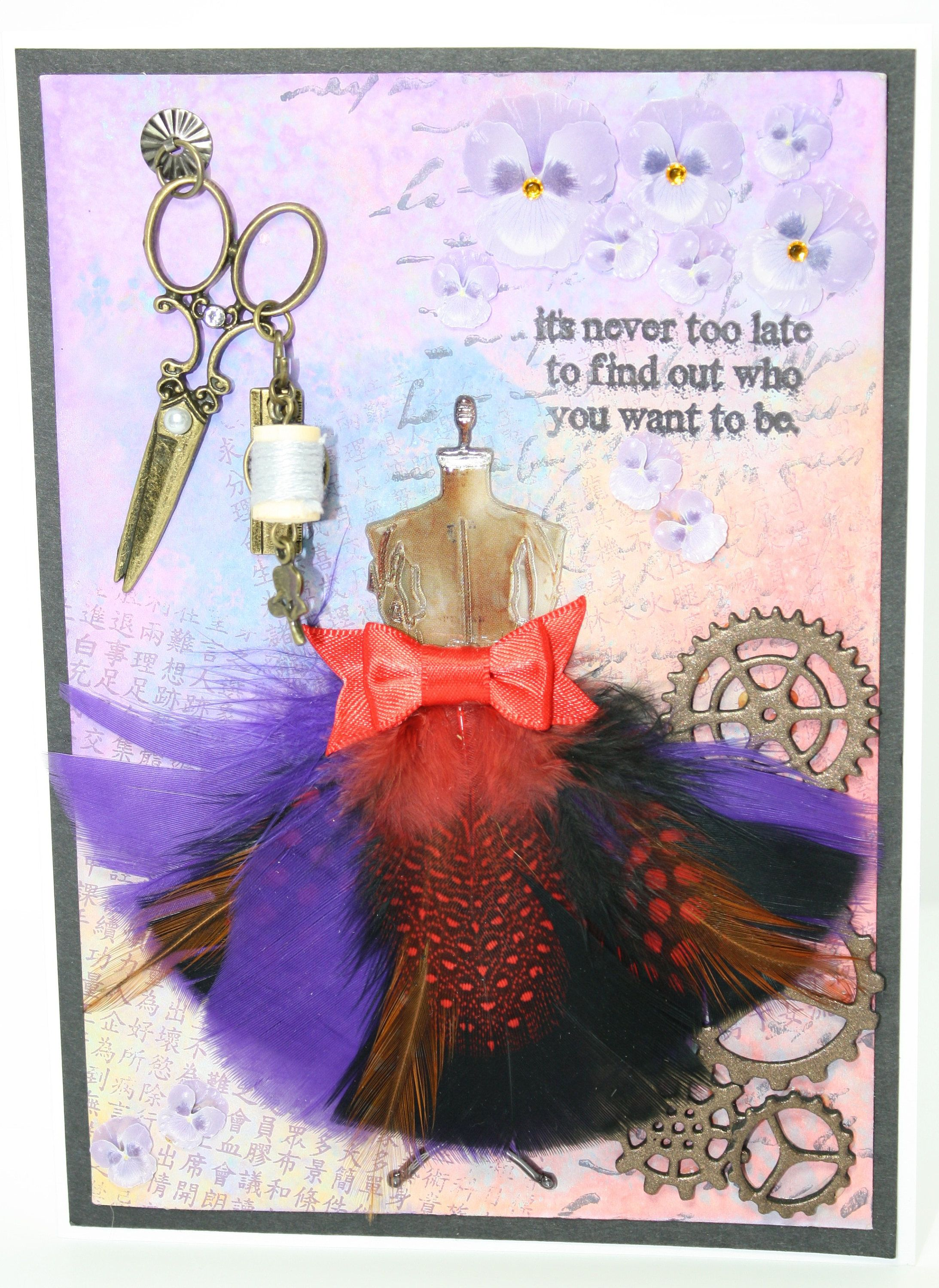 A Wonderful Greeting Card For An Art Lover Steampunk With Vintage