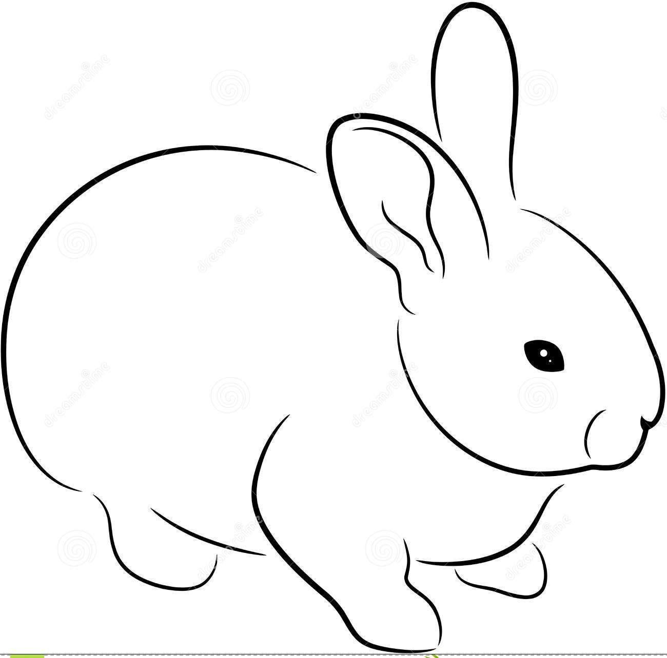 Black Outline Rabbit Tattoo Design Dermal Adventures W