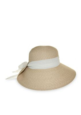 067257ee6dcd22 Nine West Women's Feminine Packable Tweed Floppy With Scarf Hat - White -  One Size