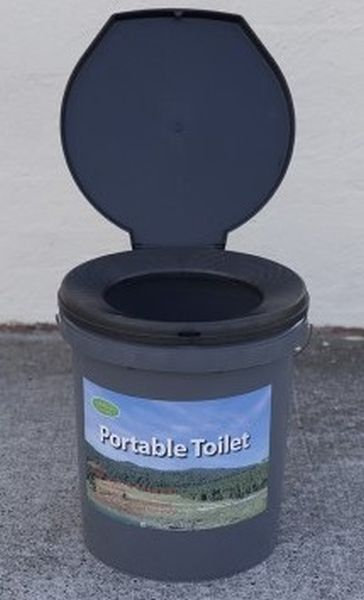 Portable Toilet, Camping Toilet Bucket Plastic Seat Outdoor Snap-on ...