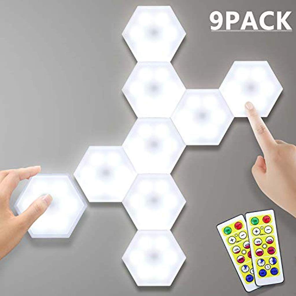 Lightess 9er Diy Wandlampe Touch Led Nachtlicht Schrankbeleuchtung Unterbauleuchten Kaltweiss Dekorative Wandleuchte Wandlicht Di In 2020 Wandlampe Nachtlicht Wandlicht