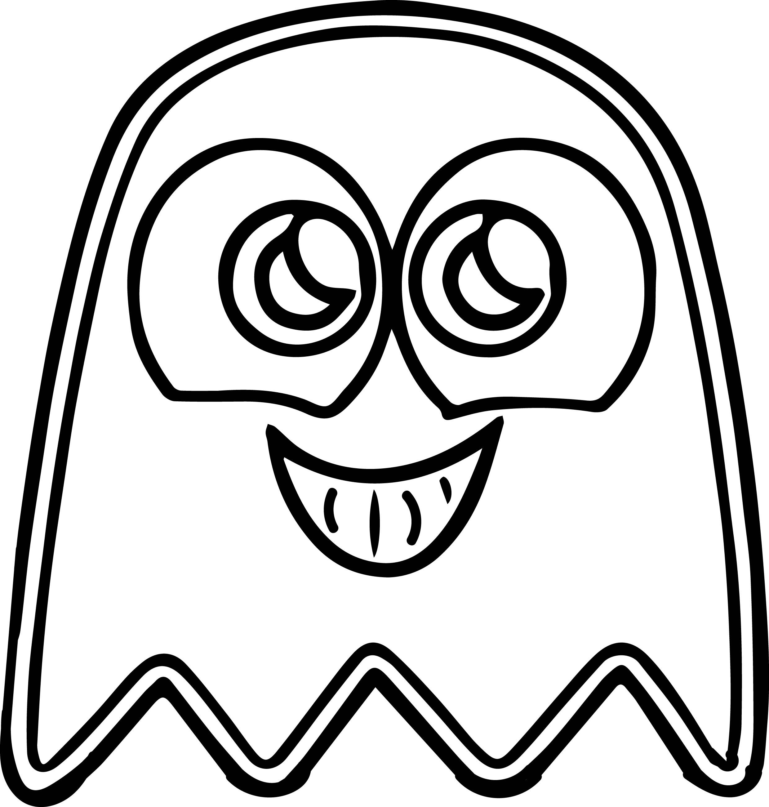 cool Pacman Cute Ghost Coloring Page | Cute ghost, Coloring ...