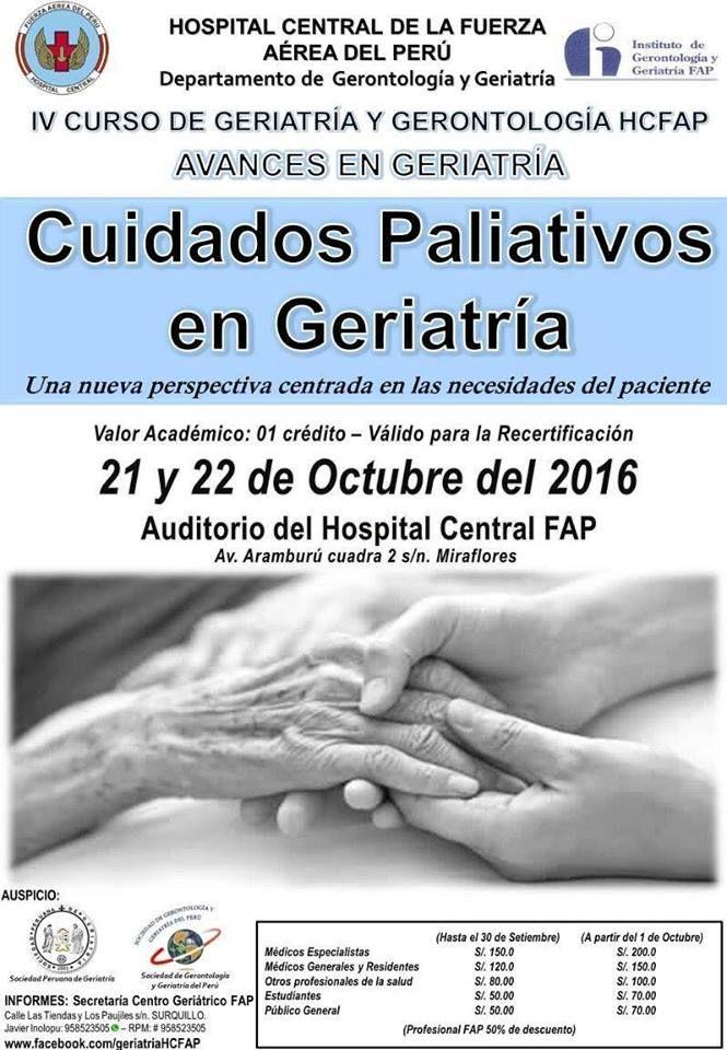 Cuidados Paliativos En Geriatría Importante Curso En Octubre Central Informativa Del Adulto Mayor Holding Hands