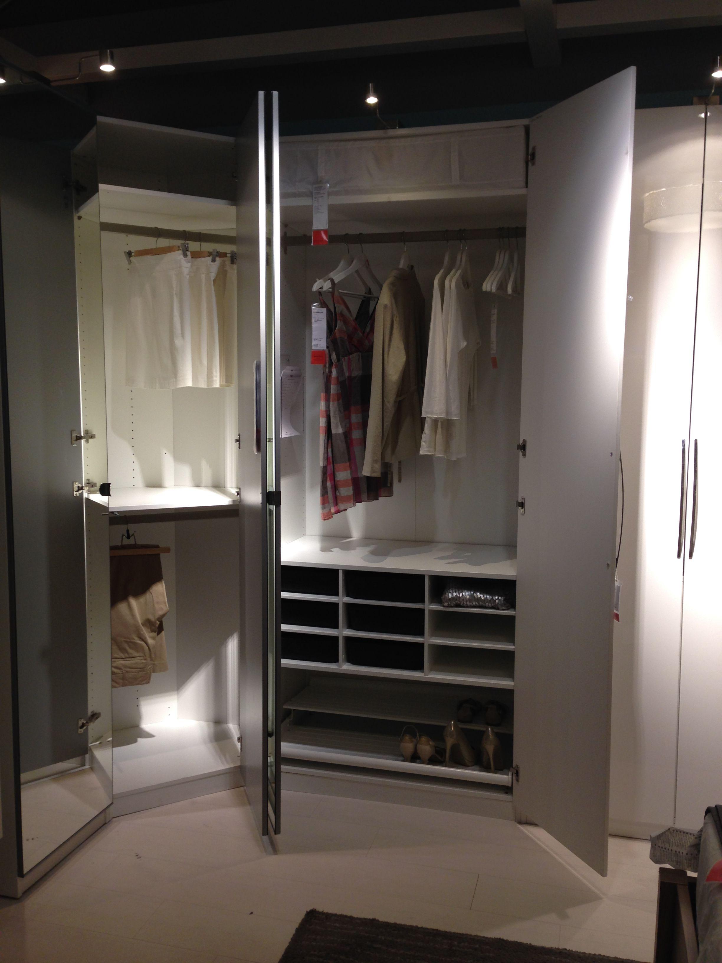 Pax Wardrobe Frame Vikedal Mirror Door Fardal Door Komplement