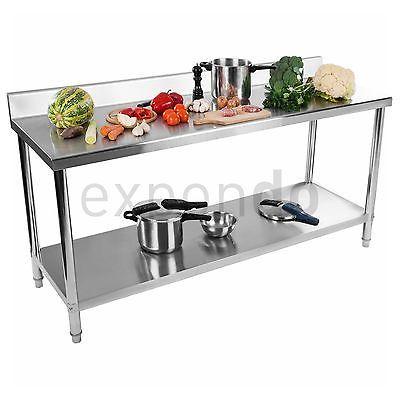 Arbeitstisch Edelstahl Edelstahltisch Aufkantung Tisch Boden 200x60 Cm Gastro Edelstahl Arbeitstisch Arbeitstisch Kuchenstuhle