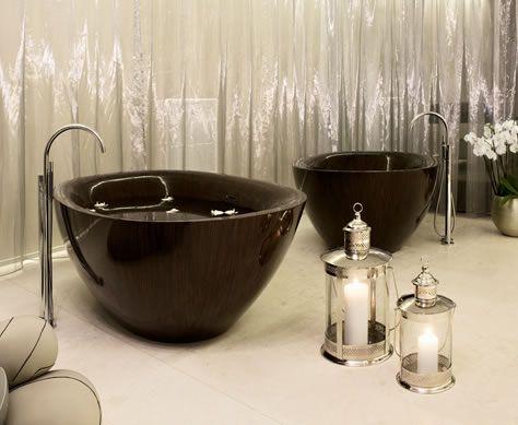 Alegna — Laguna Pearl, free standing wooden bathtub for an enjoyable ...