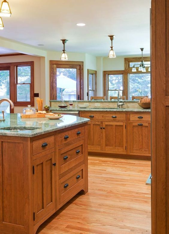 craftsman style kitchens - Bing Images (With images ...