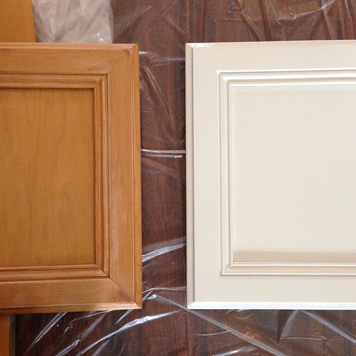 Can White Kitchen Cabinets Be Repainted: Kitchen Renovation: Prepping And Painting The Cabinets