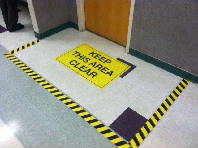 Floor Graphics Safety Signs Watch Your Step 건축
