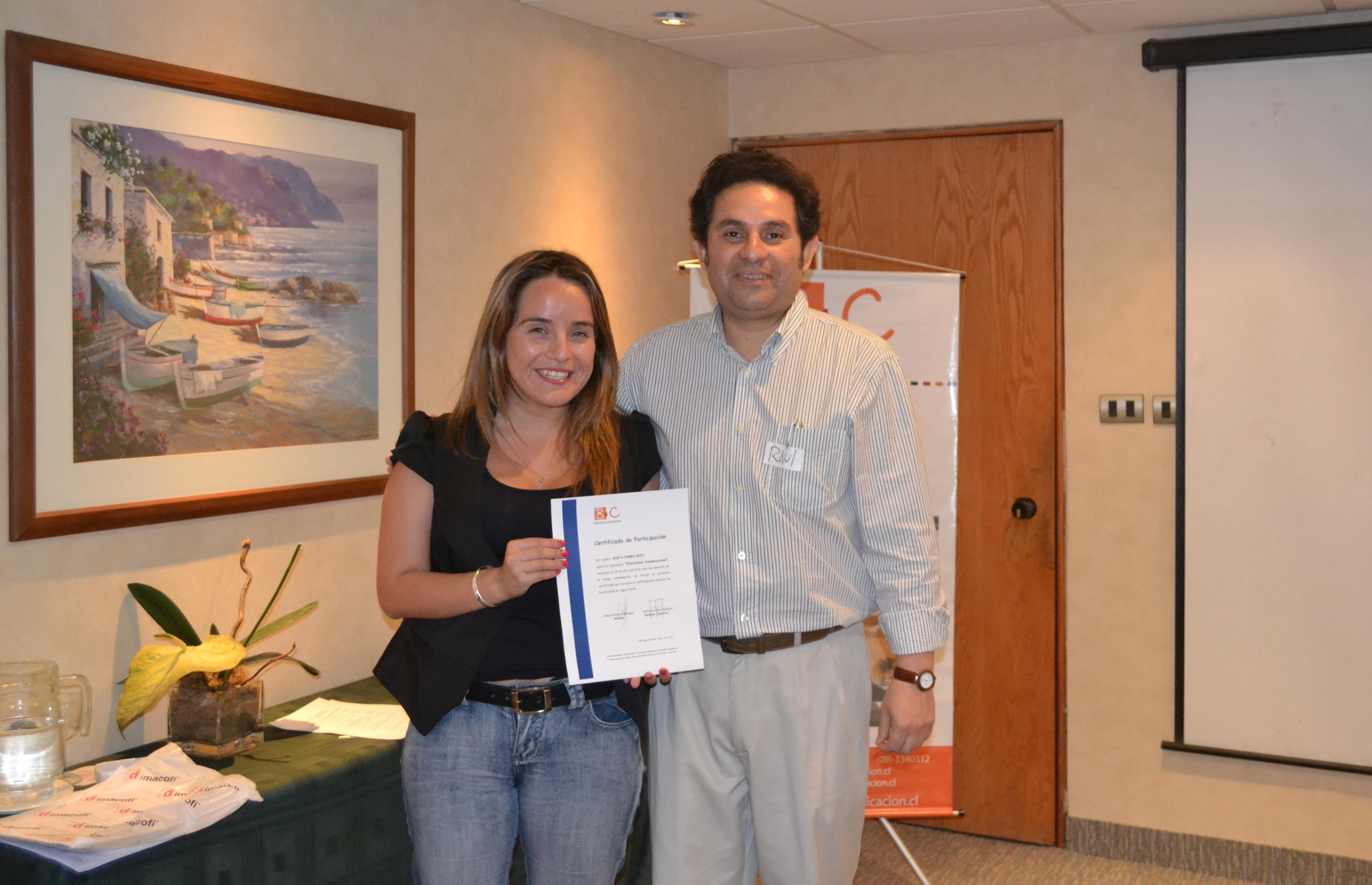Entrega de diploma Taller 2012