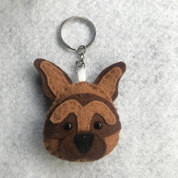 German Shepard keyring/keychain! Handsown/handmade! Made personal to your pet. #germanshepards